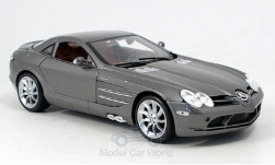 Modelcar - <strong>Mercedes</strong> SLR, metallic-grey, 2003<br /><br />Maisto, 1:18<br />No. 143377
