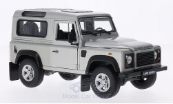Modellauto - <strong>Land Rover</strong> Defender, silber<br /><br />Welly, 1:24<br />Nr. 151629