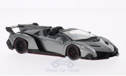 Modelcar - <strong>Lamborghini</strong> Veneno Roadster, metallic-grey/green<br /><br />Kyosho, 1:43<br />No. 203715