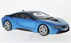 Modelcar - <strong>BMW</strong> i8, metallic-blue/dunkelgrau<br /><br />Paragon, 1:18<br />No. 210718
