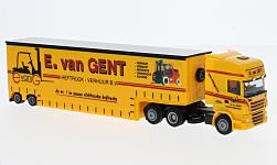 Modellauto - <strong>Scania</strong> 09 TL  Aerop., Van Gent (NL), Tiefbett-SZ<br /><br />AWM, 1:87<br />Nr. 225757