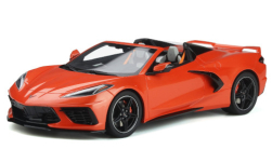 Modellauto - <strong>Chevrolet</strong> Corvette C8 Convertible, orange, 2020<br /><br />GT Spirit, 1:18<br />Nr. 248204