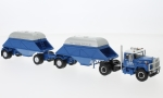 Modellauto - <strong>IHC</strong>  Fleetstar 2000-D, blau/weiss, mit Bottom Dump Trailer (Closed), 1963