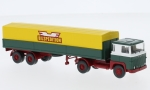 Scania 111 Alupritschensattelzug, Bilspedition, 1/87, Wiking / PMS