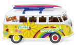 VW T1 Bus, Flower Power, 1/87, Wiking