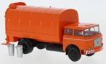 LIAZ 706 Müllwagen, orange, 1/87, Brekina