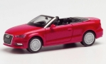 Audi A3 Cabriolet, metallic-rot, 1/87, Herpa