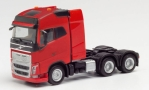 Volvo FH GL 6x4, rot, 1/87, Herpa
