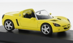 Modellauto - <strong>Opel</strong> Speedster, geel<br /><br />I-Schuco, 1:43<br />Nr. 113421