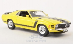 Modellauto - <strong>Ford</strong> Mustang Boss 302, gelb, ohne Vitrine, 1970<br /><br />Welly, 1:24<br />Nr. 116926