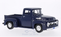 Modellauto - <strong>Ford</strong> F-100 Pick Up, dunkelblau, 1956<br /><br />Motormax, 1:24<br />Nr. 120136
