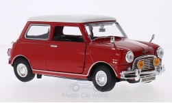 Modellauto - <strong>Mini</strong> Cooper, rot/weiss, RHD<br /><br />Motormax, 1:18<br />Nr. 122522
