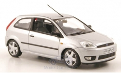 Modellauto - <strong>Ford</strong> Fiesta, silber,  3-Türer, 2002<br /><br />I-Minichamps, 1:43<br />Nr. 122630