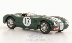 Modellauto - <strong>Jaguar</strong> C-Type, RHD, No.17, 24h Le Mans, Moss Collection, P.Walker/S.Moss, 1953<br /><br />Brumm, 1:43<br />Nr. 122674