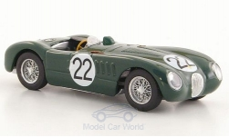 Modellauto - <strong>Jaguar</strong> C-Type, RHD, No.22, 24h Le Mans, Moss Collection, S.Moss/J.Fairman, 1951<br /><br />Brumm, 1:43<br />Nr. 122678