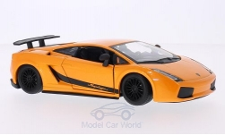 Modelcar - <strong>Lamborghini</strong> Gallardo Superleggera, metallic-orange, 2003<br /><br />Bburago, 1:24<br />No. 126223