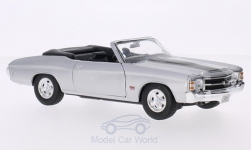 Modelcar - <strong>Chevrolet</strong> Chevelle SS 454 Convertible, silver/black, 1971<br /><br />Welly, 1:24<br />No. 127392