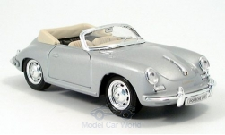 Modellino - <strong>Porsche</strong> 356 B Cabriolet, argento<br /><br />Welly, 1:24<br />n. 129160