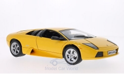 Modelcar - <strong>Lamborghini</strong> Murcielago, metallic-yellow<br /><br />Welly, 1:18<br />No. 130582