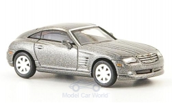 Modellauto - <strong>Chrysler</strong> Crossfire Coupe, metallic-grau, 2006<br /><br />Ricko, 1:87<br />Nr. 136456