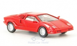 Modellauto - <strong>Lamborghini</strong> Countach 25th Anniversary, rot, 1989<br /><br />Ricko, 1:87<br />Nr. 136576