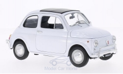 Modellauto - <strong>Fiat</strong> 500, weiss, 1957<br /><br />Welly, 1:18<br />Nr. 143648