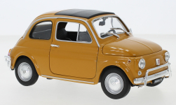 Modellauto - <strong>Fiat</strong> 500, dunkelgelb, 1957<br /><br />Welly, 1:18<br />Nr. 143649