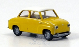 Modellauto - <strong>Glas</strong> Goggomobil Limousine, geel<br /><br />Brekina, 1:87<br />Nr. 144543