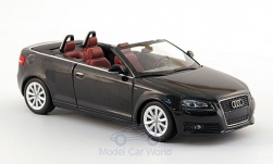 Modellauto - <strong>Audi</strong> A3 Cabriolet, metallic-dunkelgrau, ohne Vitrine, 2007<br /><br />Minichamps, 1:43<br />Nr. 146133