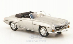 Modellauto - <strong>Mercedes</strong> 190 SL (W121 BII), silber<br /><br />Ricko, 1:87<br />Nr. 147054