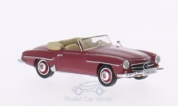 Modelcar - <strong>Mercedes</strong> 190 SL (W121 BII), dark red<br /><br />Ricko, 1:87<br />No. 147784