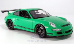 Modelcar - <strong>Porsche</strong> 911 (997),GTR3 RS, green, without showcase<br /><br />Welly, 1:18<br />No. 148641
