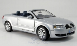 Modellauto - <strong>Audi</strong> A4 Cabriolet, silber, ohne Vitrine<br /><br />Motormax, 1:18<br />Nr. 148669