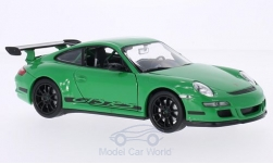 Modelcar - <strong>Porsche</strong> 911 GT3 RS (997), green/Decorated<br /><br />Welly, 1:24<br />No. 151627