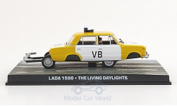 Modellauto - <strong>Lada</strong> 1500, gelb/weiss, James Bond 007, Der Hauch des Todes ohne Vitrine, 1987<br /><br />SpecialC.-007, 1:43<br />Nr. 155909