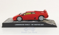 Modellauto - <strong>Lamborghini</strong> Diablo, rot, James Bond 007, Stirb an einem anderen Tag, ohne Vitrine, 2002<br /><br />SpecialC.-007, 1:43<br />Nr. 155915