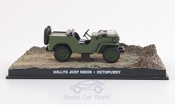 Modellauto - <strong>Jeep</strong> Willys M 606, oliv, James Bond 007, Octopussy, ohne Vitrine, 1983<br /><br />SpecialC.-007, 1:43<br />Nr. 155922