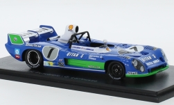 ModelCar - <strong>Matra Simca</strong> MS 670 B, No.7, Gitanes, 24h Le Mans, mit Decals, H.Pescarolo/G.Larrousse, ohne Vitrine, 1974<br /><br />Spark, 1:43<br />No. 156144