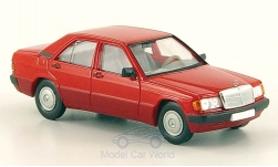 Modelcar - <strong>Mercedes</strong> 190E (W201), red, without Kartonschuber, 1988<br /><br />Brekina Starmada, 1:87<br />No. 157904