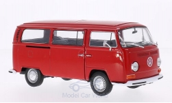 Modelo de coche - <strong>VW</strong> T2 autobús, rojo, 1972<br /><br />Welly, 1:24<br />Nº 158739