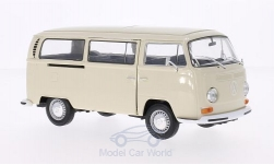 Modelcar - <strong>VW</strong> T2 bus, light beige, 1972<br /><br />Welly, 1:24<br />No. 158740