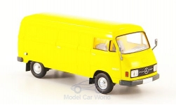 Modelcar - <strong>Mercedes</strong> L 206D box wagon, yellow, without Kartonschuber, 1970<br /><br />Brekina Starmada, 1:87<br />No. 158978