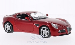 Modellino - <strong>Alfa Romeo</strong> 8C competizione, metallic-rosso<br /><br />Welly, 1:24<br />n. 159535
