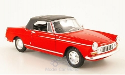 Modelcar - <strong>Peugeot</strong> 404 Convertible, red, closed, 1963<br /><br />Welly, 1:24<br />No. 159541