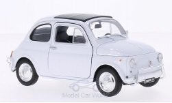 Modelcar - <strong>Fiat</strong> 500, white<br /><br />Welly, 1:24<br />No. 159560