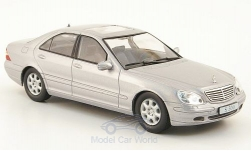 Modellauto - <strong>Mercedes</strong> S500 (W220), zilver, zonder Vitrine, 1998<br /><br />SpecialC.-16, 1:43<br />Nr. 162191