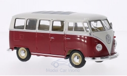 Modelcar - <strong>VW</strong> T1 bus red/white, 1963<br /><br />Welly, 1:24<br />No. 162642