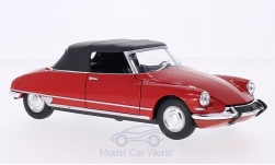 Modelcar - <strong>Citroen</strong> DS 19 Convertible, red, canopy closed<br /><br />Welly, 1:24<br />No. 162644