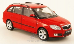 voiture miniature - <strong>Skoda</strong> Fabia II combi, rouge<br /><br />Welly, 1:24<br />N° 162647