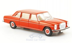 Modelcar - <strong>Mercedes</strong> 220 D long (V115), red, without Kartonschuber<br /><br />Brekina Starmada, 1:87<br />No. 162697